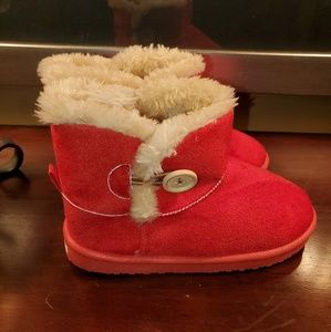 Cior Girl's Red Winter Fashion Boots
